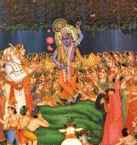 Lord Krishna - Sri Govardhan-dhari - The lifter of Govardhan Hill