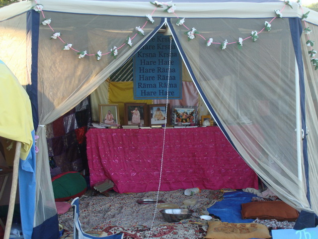 Our beautiful Temple tent is very inviting as a spiritual refuge for all.