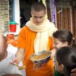 Serving-prasadam