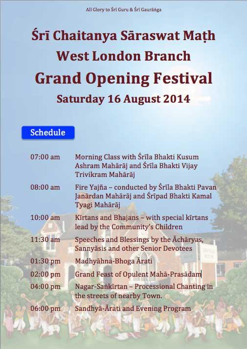 Opening-schedule