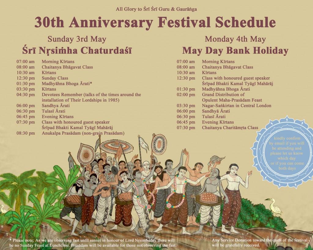 30th-Schedule